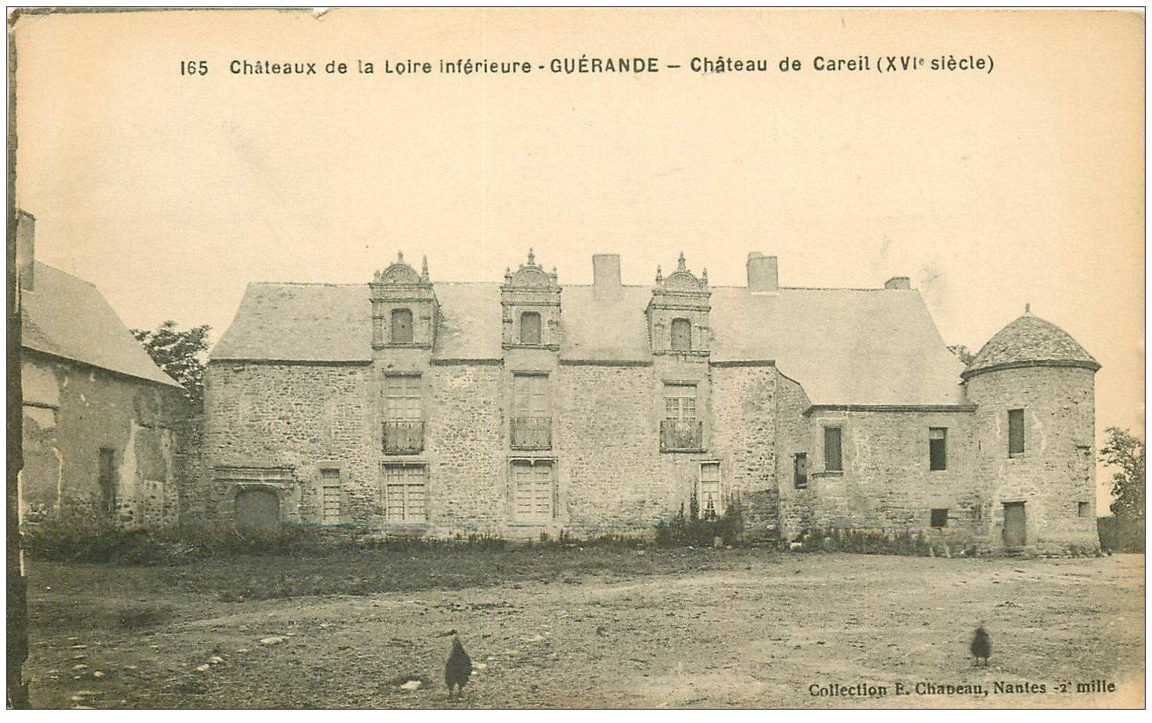 carte postale ancienne 44 GUERANDE. Château de Careil