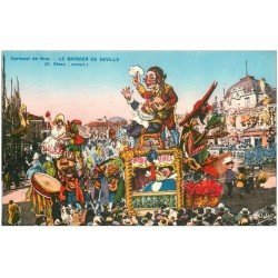carte postale ancienne 06 NICE. Carnaval. Le Barbier de Séville