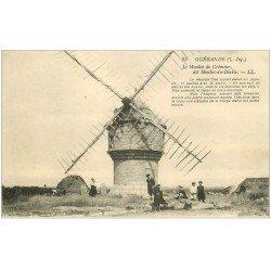 carte postale ancienne 44 GUERANDE. Moulin du Diable ou Cremeur Enfants