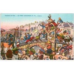 carte postale ancienne 06 NICE. Carnaval. Le Pont d'Avignon