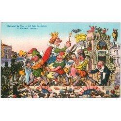 carte postale ancienne 06 NICE. Carnaval. Le Roi Pausole