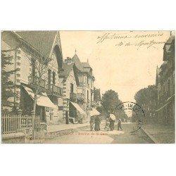 carte postale ancienne 44 LA BAULE. Avenue de la Gare 1903
