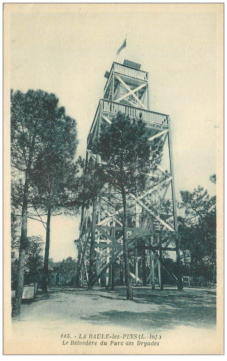 carte postale ancienne 44 LA BAULE. Belvédère Parc des Dryades