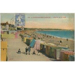 carte postale ancienne 44 LA BAULE. Entrée Plage 1929