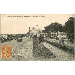 carte postale ancienne 44 LA BAULE. Esplanades du Casino voitures anciennes 1927