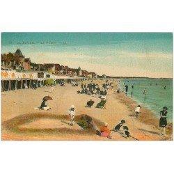 carte postale ancienne 44 LA BAULE. La Plage 1926
