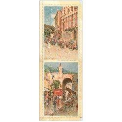 carte postale ancienne 06 NICE. Carte postale double repliable. Marché aux Fleurs et Poissonnerie. Raymond