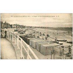 carte postale ancienne 44 LA BAULE. La Plage Esplanade Casino
