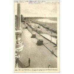 carte postale ancienne 44 LA BAULE. La Plage vue Hôtel Adriana 1937