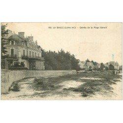 carte postale ancienne 44 LA BAULE. Plage Benoit 1922 (timbre absent)