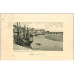 carte postale ancienne 44 LA BAULE. Port du Pouliguen 1912