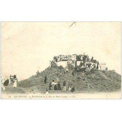 carte postale ancienne 44 LE CROISIC. Bénédiction de la Mer Mont Lenigo 1907