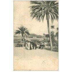 carte postale ancienne 06 NICE. Casino et Jardins 1908