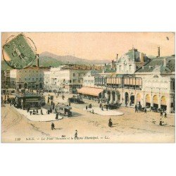carte postale ancienne 06 NICE. Casino Place Massena 1918