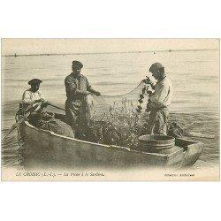 carte postale ancienne 44 LE CROISIC. La Pêche à la Sardine