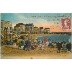 carte postale ancienne 44 LE CROISIC. Plage Port-Lin 1925