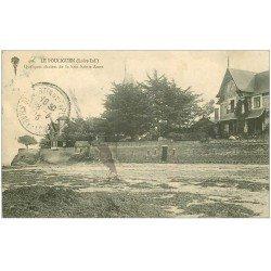 carte postale ancienne 44 LE POULIGUEN. Chalets Baie Sainte-Anne 1916