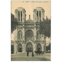carte postale ancienne 06 NICE. Eglise Notre-Dame