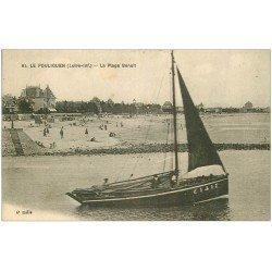 carte postale ancienne 44 LE POULIGUEN. La Plage Benoît