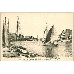 carte postale ancienne 44 LE POULIGUEN. Le Port avec Voiliers 636
