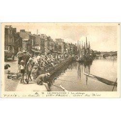 carte postale ancienne 44 LE POULIGUEN. Les Pêcheurs à la ligne 1934