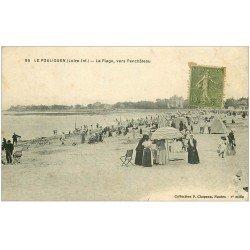 carte postale ancienne 44 LE POULIGUEN. Plage vers Penchâteau n°86
