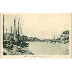 carte postale ancienne 44 LE POULIGUEN. Port et Pont