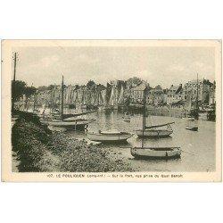 carte postale ancienne 44 LE POULIGUEN. Port vue du Quai Benoît