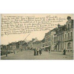 carte postale ancienne 44 LE POULIGUEN. Quai du Port. Hôtel Neptune