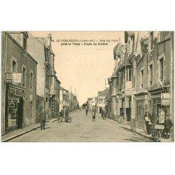carte postale ancienne 44 LE POULIGUEN. Rue du Pont Route du Croisic. Tabac vente de Cartes Postales