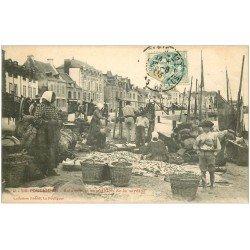 carte postale ancienne 44 LE POULIGUEN. Salaison et expédition de la Sardine 1903