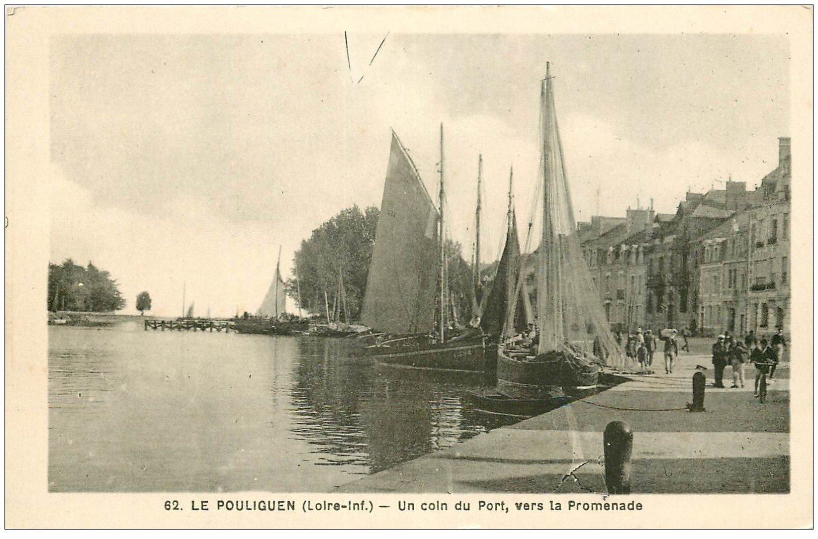 carte postale ancienne 44 LE POULIGUEN. Un coin du Port