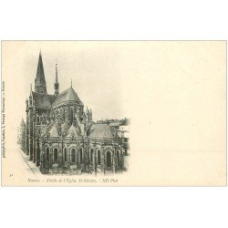 carte postale ancienne 44 NANTES. Abside Eglise Saint-Nicolas