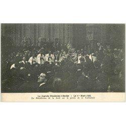 carte postale ancienne 44 NANTES. Bénédiction de la foule Parvis Cathédrale en 1925