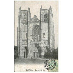 carte postale ancienne 44 NANTES. Cathédrale 1906