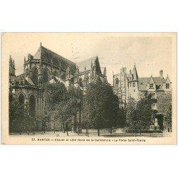 carte postale ancienne 44 NANTES. Chevet Cathédrale 1935