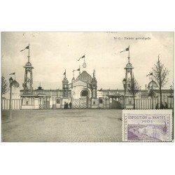 carte postale ancienne 44 NANTES. Exposition 1904. L'Entrée principale.