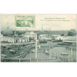 carte postale ancienne 44 NANTES. Exposition 1904. Vue générale. Timbrée mais carte vierge
