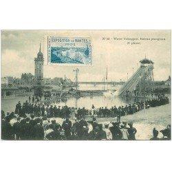 carte postale ancienne 44 NANTES. Exposition de 1904. Bateau Plongeant. Water Toboggan