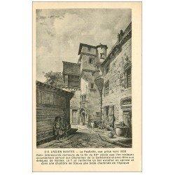 carte postale ancienne 44 NANTES. La Psallette en 1830. Timbrée en 1934