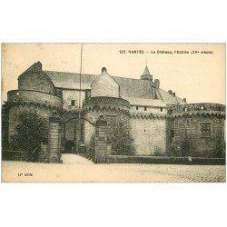 carte postale ancienne 44 NANTES. Le Château Entrée 1924