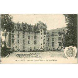 carte postale ancienne 44 NANTES. Le Château Grand Logis 1923