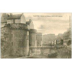 carte postale ancienne 44 NANTES. Le Château l'Entrée