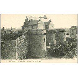 carte postale ancienne 44 NANTES. Le Château Trois Tours