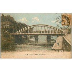 carte postale ancienne 44 NANTES. Le Nouveau Pont en 1922