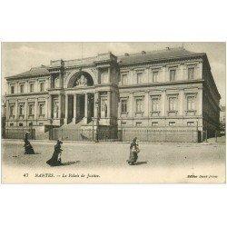 carte postale ancienne 44 NANTES. Le Palais de Justice 47