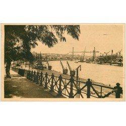 carte postale ancienne 44 NANTES. Le Port pris de l'Hermitage 1939