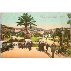 carte postale ancienne 06 NICE. Jardin du Roi Albert et Casino 1920