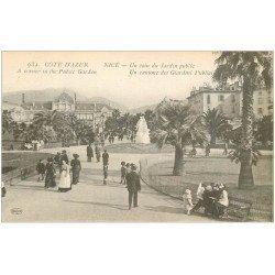 carte postale ancienne 06 NICE. Jardin Public