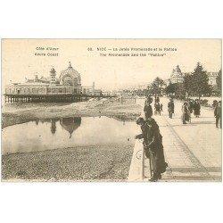 carte postale ancienne 06 NICE. La Jetée Promenade et le Paillon 1926
